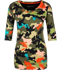 marccain sports - hs 4887 j61 - shirt camouflage