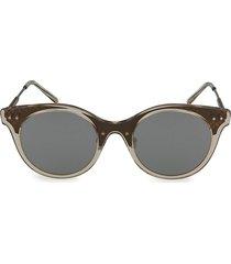 bottega veneta women's 50mm core round sunglasses - brown