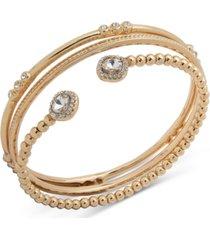anne klein gold-tone 3-pc. set stone bracelets