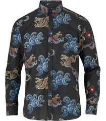 skjorta brooks dragon black shirt ls