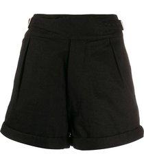 high waisted canvas shorts