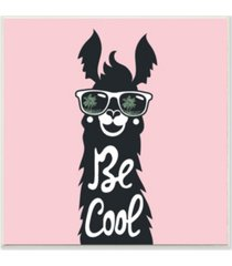 "stupell industries be cool llama with sunglasses wall plaque art, 12"" x 12"""