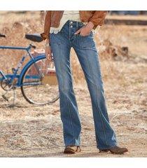driftwood women's rosie longmire jeans by sundance in med wash 27x34