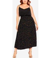 city chic trendy plus size prism spot skirt