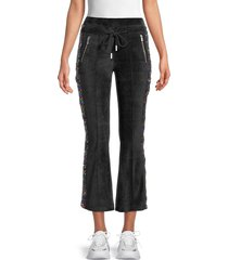 the kooples women's sequin-embellished flared pants - black - size 2 (m)