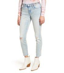 women's blanknyc indigo reade crop high waist jeans