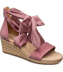 w.trina sandalette med klack espadrilles rosa ugg