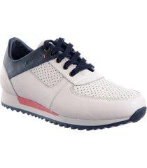 sneaker para hombre san polos  jcr-394 blanco x azul