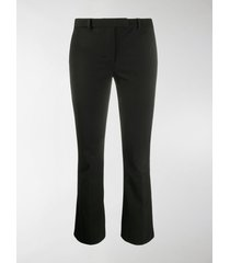 's max mara mid-rise cropped kick-flare trousers