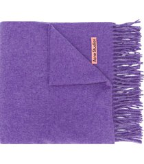 acne studios canada new fringed scarf - purple