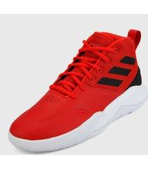 tenis basketball rojo-negro-blanco adidas performance own the game