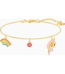 braccialetto out of this world unicorn, multicolore, placcato oro