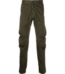 c.p. company ruched-detail straight-leg trousers - green