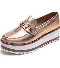 zapato mocasin ant oro rosa julieth