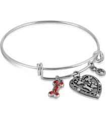 2028 pewter heart bone paw print charm bracelet
