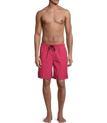 solid and striped men's the california striped swim shorts - squiggle - size s