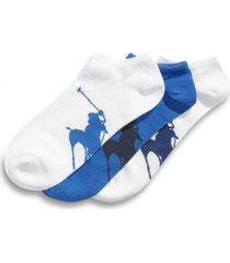 polo ralph lauren men's socks, athletic big polo player sole men's socks 3-pack