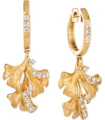 le vian nude diamond flower drop earrings (3/8 ct. t.w.) in 14k gold