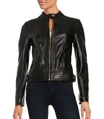 quilted italian leather jacket