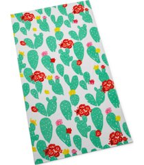 martha stewart collection prickly pear beach towel, created for macy's bedding