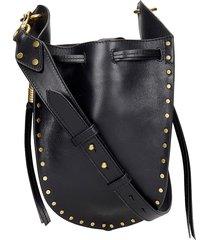 isabel marant radja shoulder bag in black leather