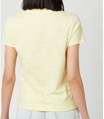 kenzo women's kenzo logo classic t-shirt - vanilla - l