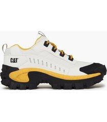caterpillar intruder sneakers white