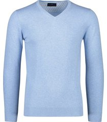 portofino katoenen trui v-hals lichtblauw