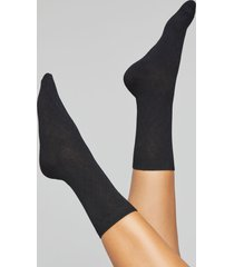 lane bryant women's diamond & solid crew socks 2-pack onesz black