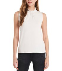 vince camuto smocked knit top
