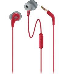 audifonos deportivos jbl endurance run cableado - rojo