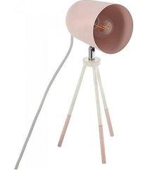lampa stołowa na trójnogu różowa