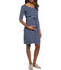 women's angel maternity the mummy drawstring maternity dress, size xx-large - blue