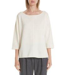 women's max mara faggio wool sweater, size x-large - white