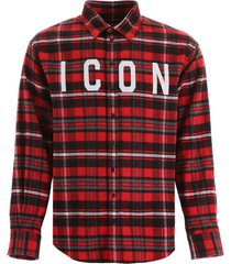 dsquared2 icon tartan shirt