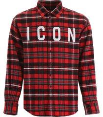 dsquared2 icon tartan shirt