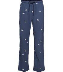 pajama pants in poplin mjukisbyxor blå gap
