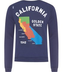blusa masculina moletom califórnia - azul