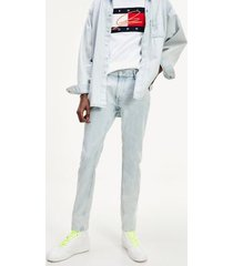 tommy hilfiger men's lewis hamilton slim fit jeans light indigo - 36/30