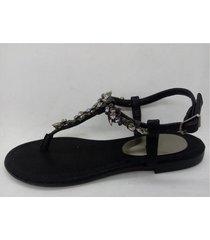 sandalia de cuero negra abryl calzados cuore