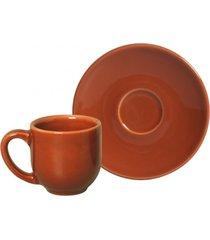 jogo de xãcaras de cafã© porto brasil 6pã§s coup cantaloupe laranja - laranja - dafiti