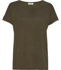 fenya modal tee t-shirts & tops short-sleeved grön moss copenhagen