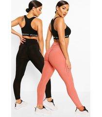 booty boosting leggings (2 stuks), blush