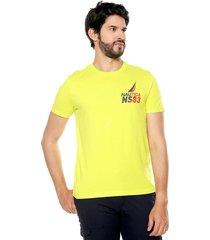 camiseta amarilla nautica