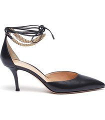 gold-toned anklet d'orsay pumps