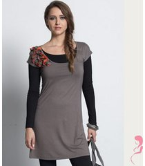 zwangerschapsshirt positieshirt tuniek cobblestone