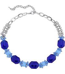 2028 silver-tone beaded necklace