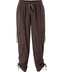 pantaloni cropped larghi stile cargo (marrone) - bpc bonprix collection