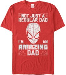 marvel men's comic collection spider-man i'm an amazing dad short sleeve t-shirt