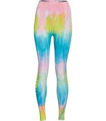 spiritual gangster women's self love sealmess yoga leggings - highlighter tie dye x-small/small spandex